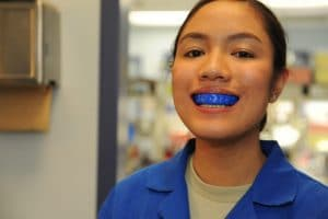 Young Woman with mouthguard